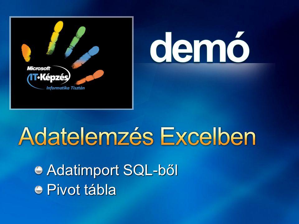 Adatimport SQL-ből Pivot tábla