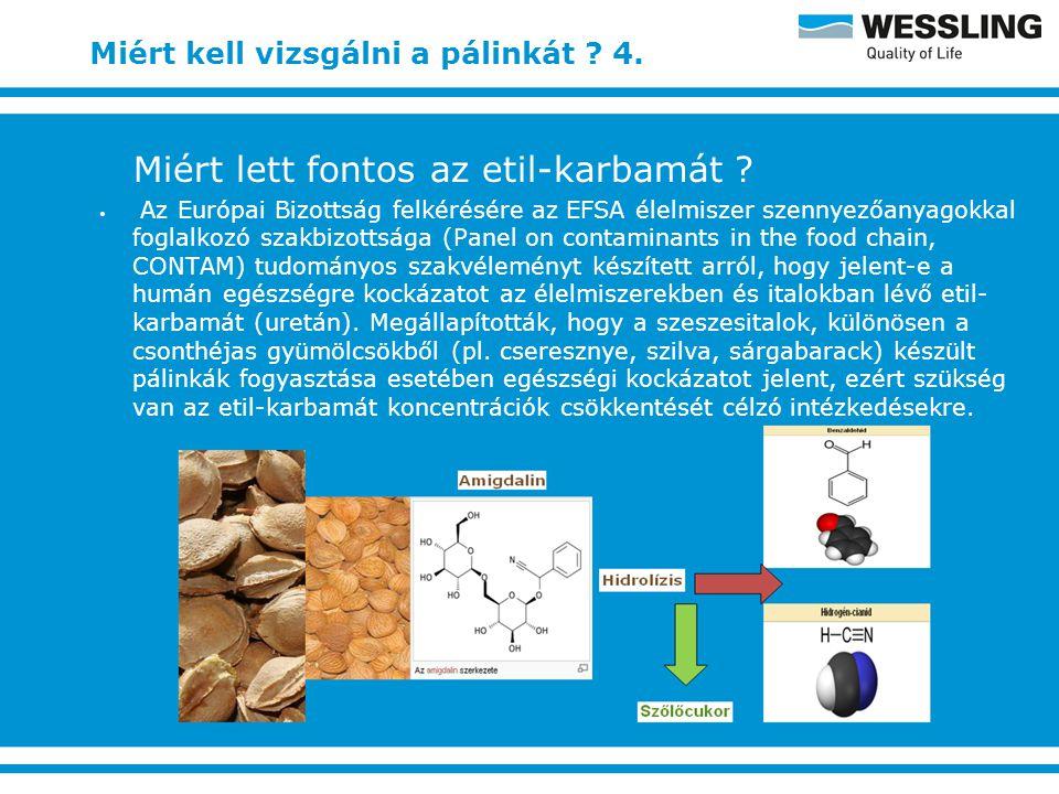 Miért kell vizsgálni a pálinkát ? 5. 283 db. versenyminta etil-karbamát tartalmának vizsgálata