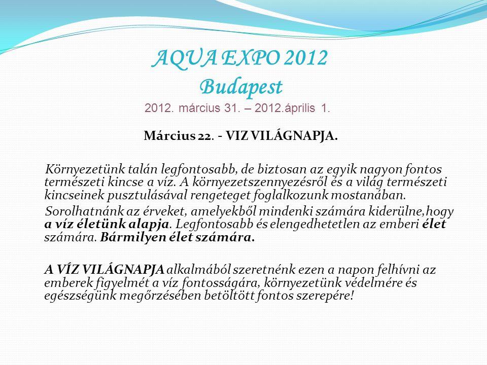 Március 22. - VIZ VILÁGNAPJA. Környezetünk talán legfontosabb, de biztosan az egyik nagyon fontos természeti kincse a víz. A környezetszennyezésről és