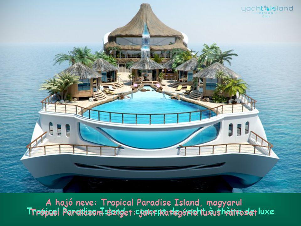 Tropical Paradise Island : concept de yacht à thème de luxe A hajó neve: Tropical Paradise Island, magyarul Trópusi Pardicsom Sziget: jaht kategória luxus változat