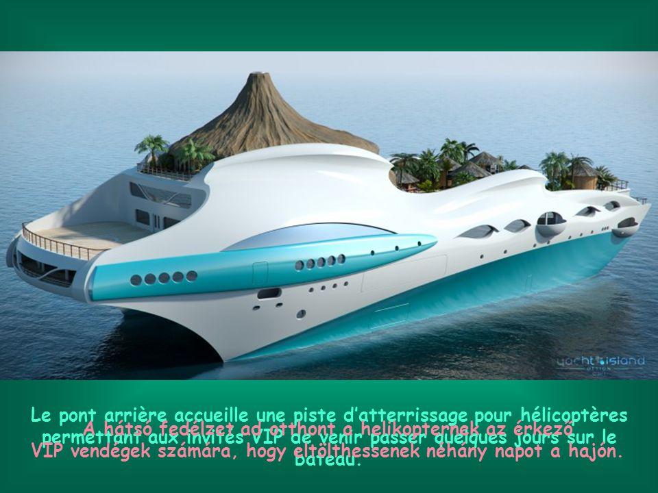 Oui !!. Une île entière construite sur un beau yacht.