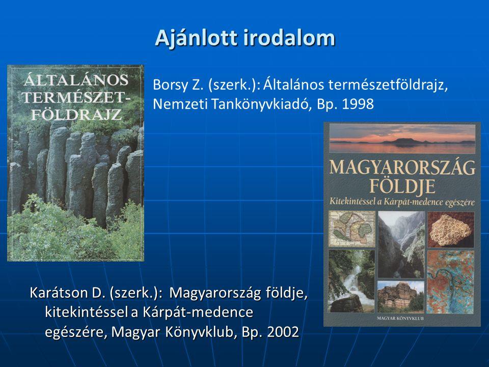 Ajánlott irodalom Karátson D.