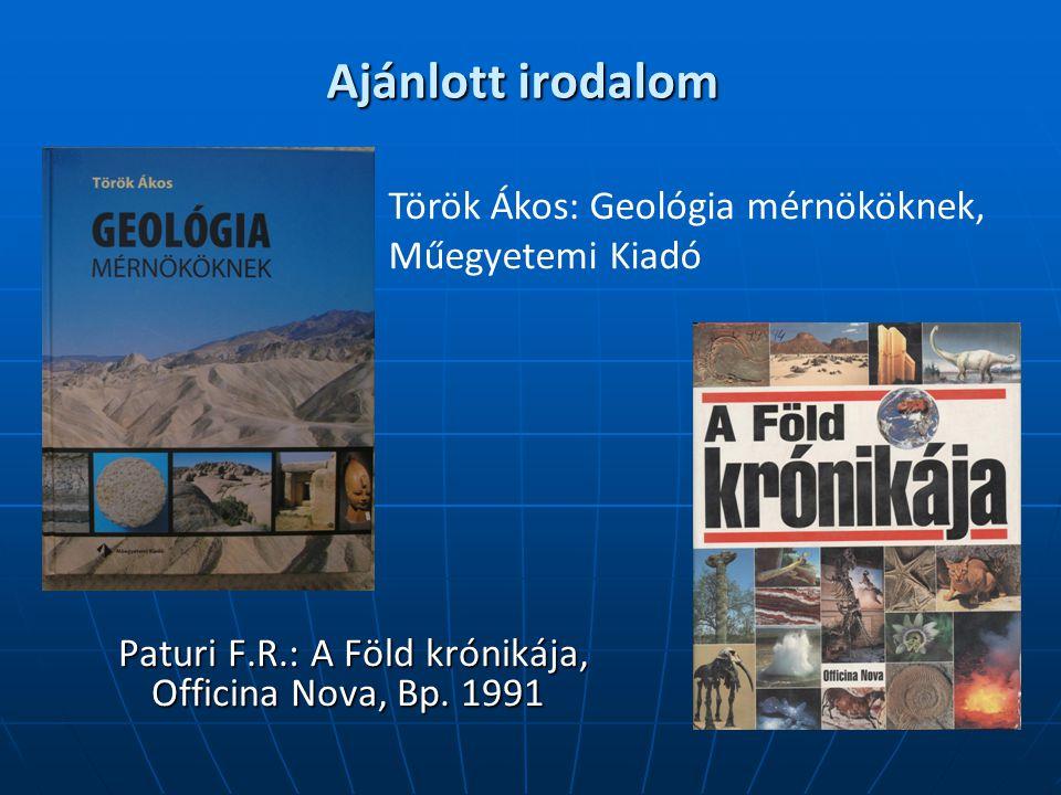 Ajánlott irodalom Paturi F.R.: A Föld krónikája, Officina Nova, Bp.