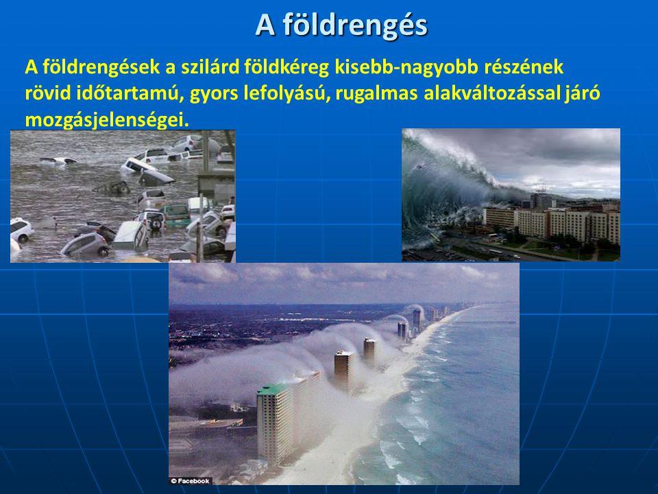 A földrengés keletkezése 1.Két kőzettömb nyugalomban2.