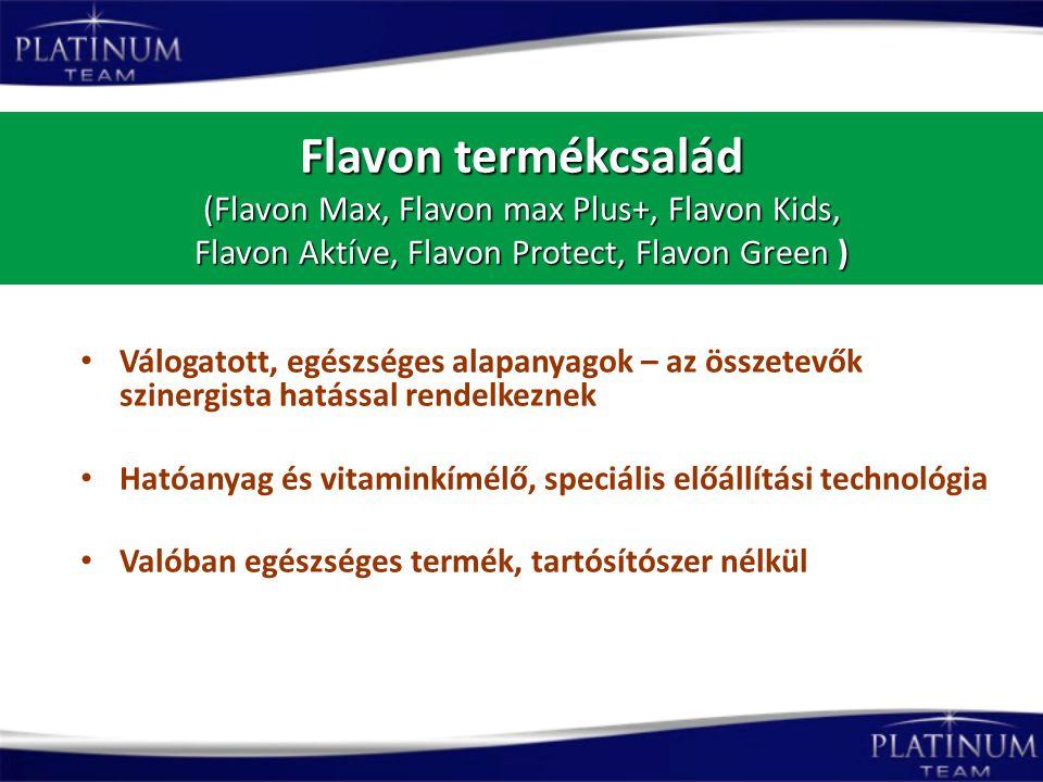 Flavon termékcsalád (Flavon Max, Flavon max Plus+, Flavon Kids, Flavon Aktíve, Flavon Protect, Flavon Green ) Válogatott, egészséges alapanyagok – az
