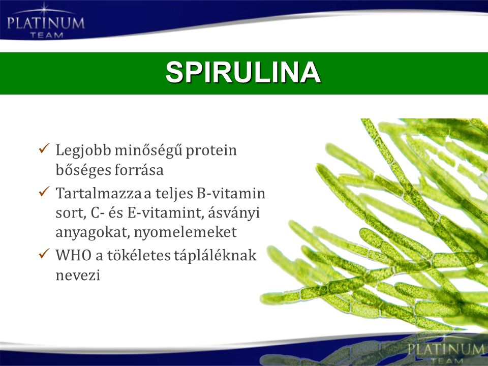 Legjobb minőségű protein bőséges forrása Tartalmazza a teljes B-vitamin sort, C- és E-vitamint, ásványi anyagokat, nyomelemeket WHO a tökéletes táplál