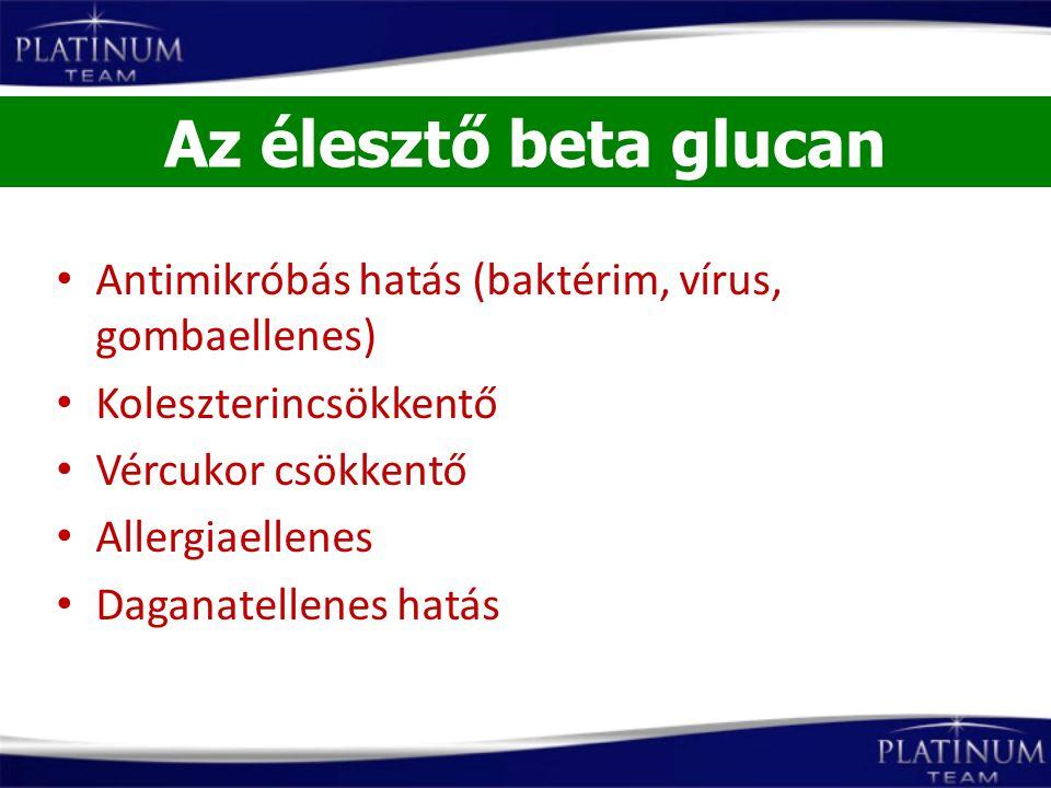 Antimikróbás hatás (baktérim, vírus, gombaellenes) Koleszterincsökkentő Vércukor csökkentő Allergiaellenes Daganatellenes hatás