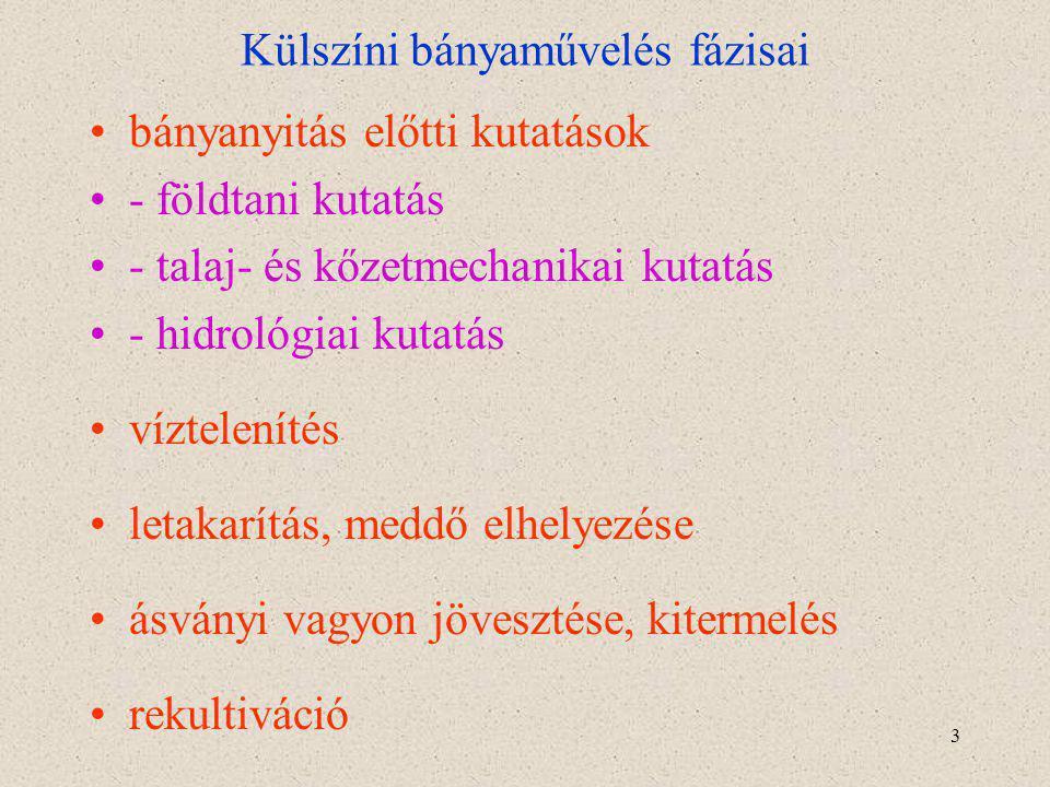 4 A külfejtések típusai 1.