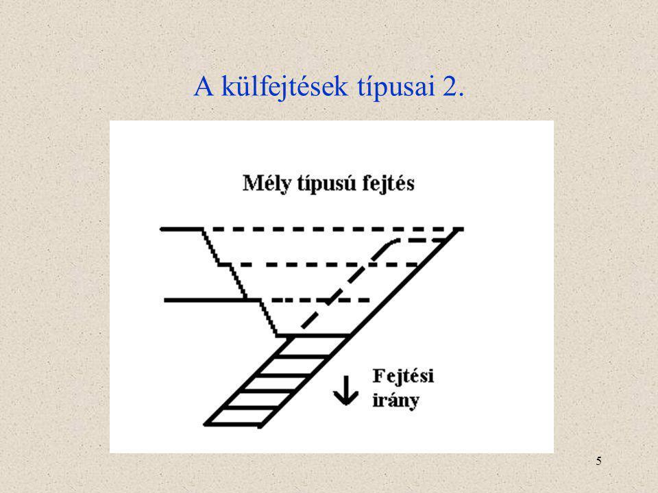 5 A külfejtések típusai 2.