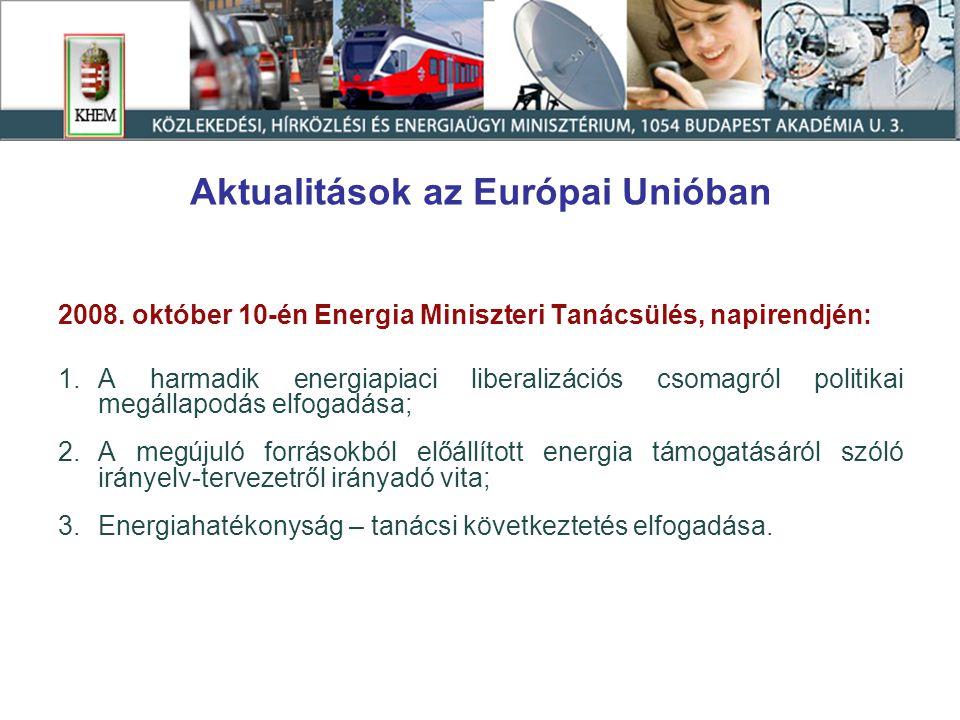 Aktualitások az Európai Unióban 2008.