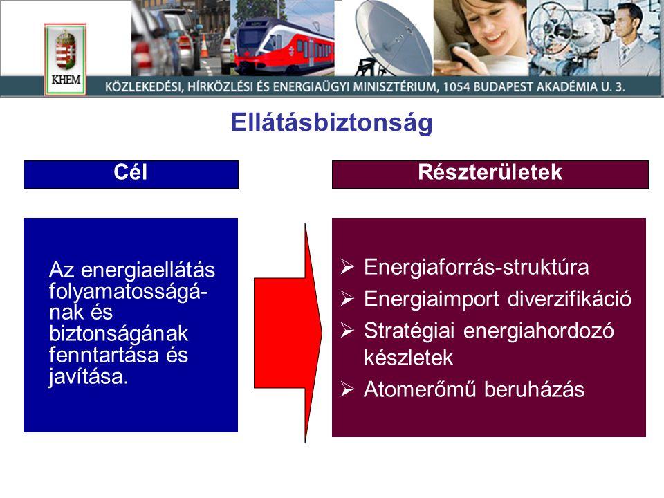 Magyarország földgázellátásának kockázatai  Bizonytalanságok a tranzit útvonalakon  Termelő országok országkockázata  Importfüggőség hosszú távú növekedése  A csúcskapacitás iránti igények kielégítése  Rendkívüli alulfogyasztás kezelése