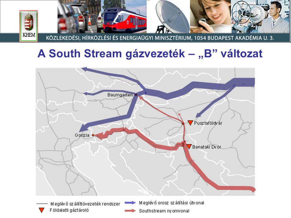 """A South Stream gázvezeték – """"B változat"""