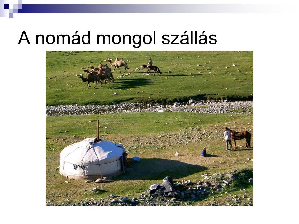 A nomád mongol szállás