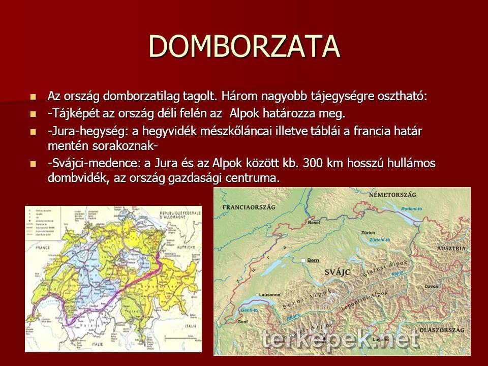 DOMBORZATA Az ország domborzatilag tagolt. Három nagyobb tájegységre osztható: Az ország domborzatilag tagolt. Három nagyobb tájegységre osztható: -Tá
