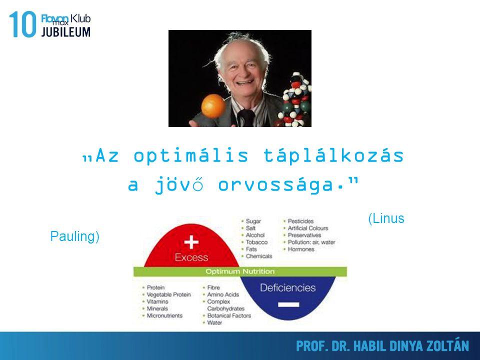 """""""Az optimális táplálkozás a jövő orvossága."""" (Linus Pauling)"""