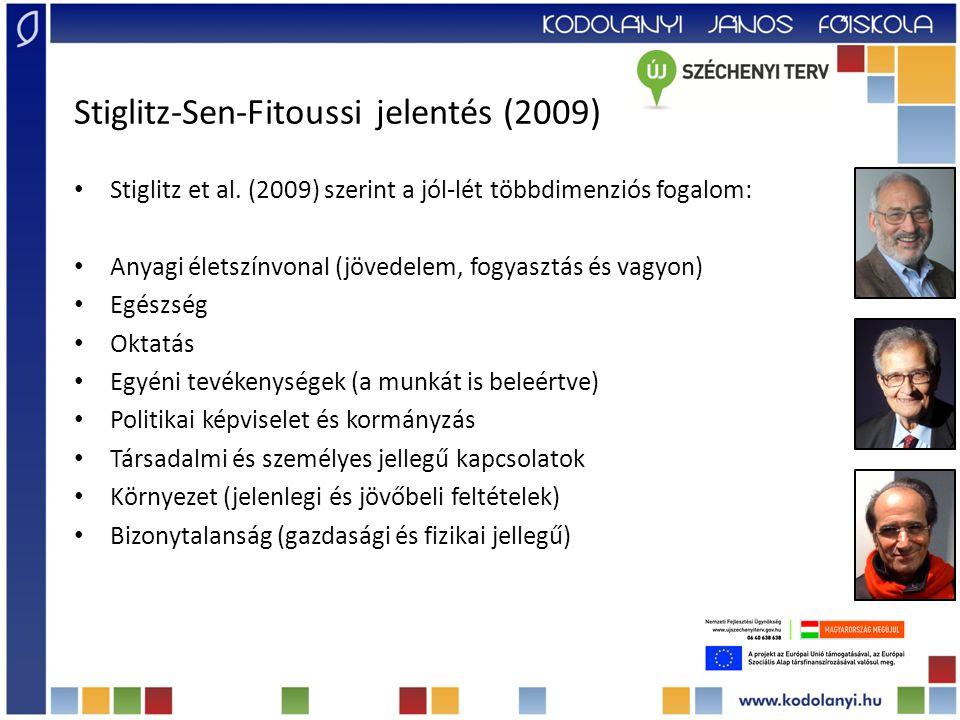 Stiglitz-Sen-Fitoussi jelentés (2009) Stiglitz et al.
