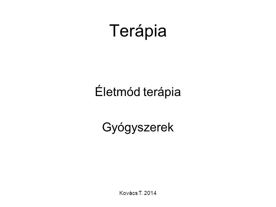 Terápia Életmód terápia Gyógyszerek Kovács T. 2014