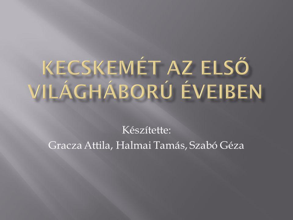 Készítette: Gracza Attila, Halmai Tamás, Szabó Géza