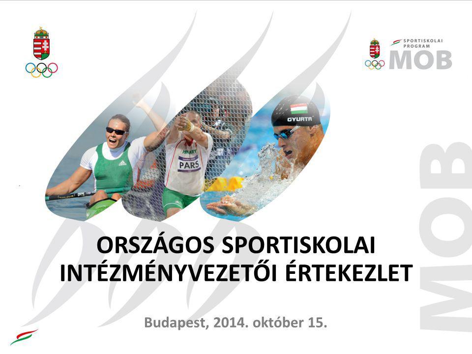 ORSZÁGOS SPORTISKOLAI INTÉZMÉNYVEZETŐI ÉRTEKEZLET Budapest, 2014. október 15.