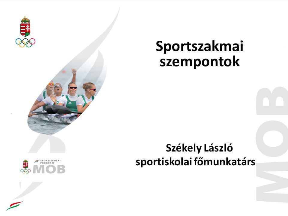 Sportszakmai szempontok Székely László sportiskolai főmunkatárs
