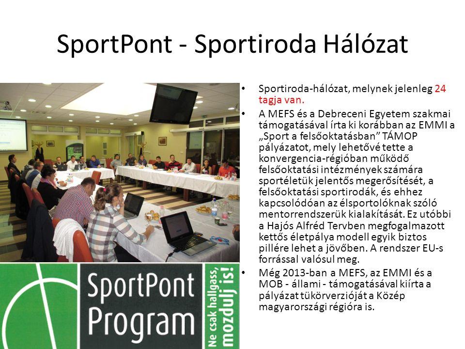 SportPont - Sportiroda Hálózat Sportiroda-hálózat, melynek jelenleg 24 tagja van.