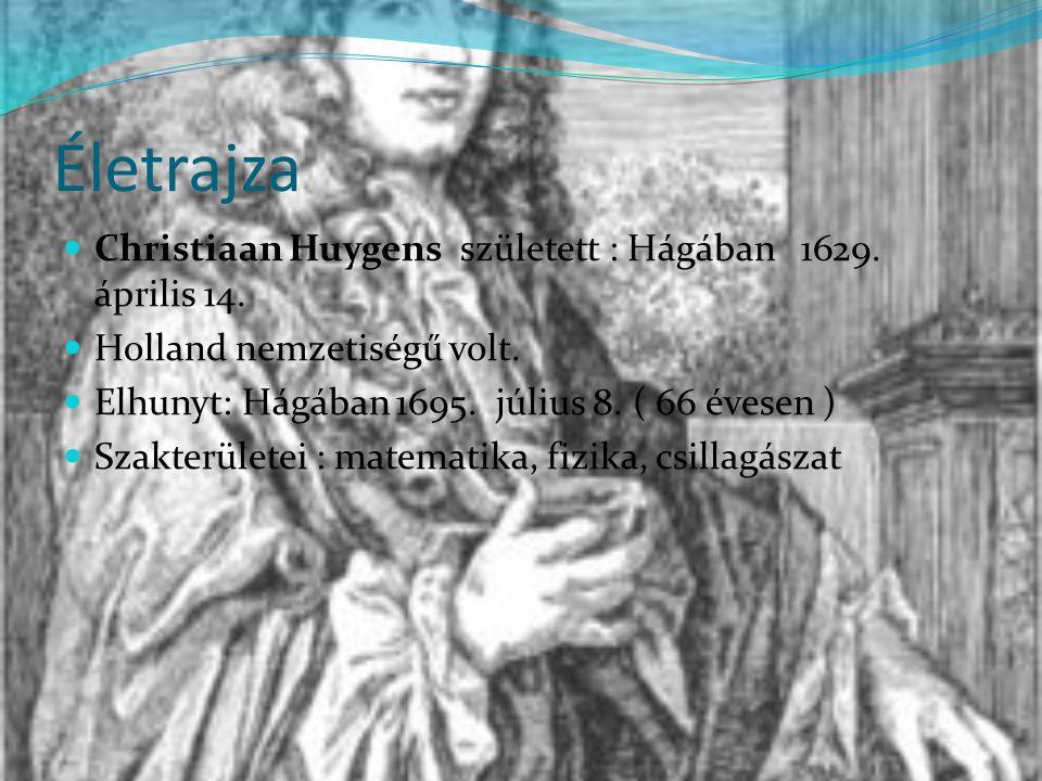 Életrajza Christiaan Huygens született : Hágában 1629.