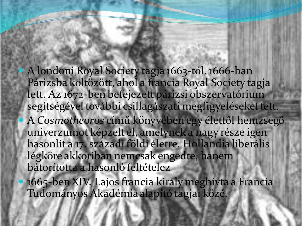1675 -ben szabadalmaztatott egy általa készített zsebórát.