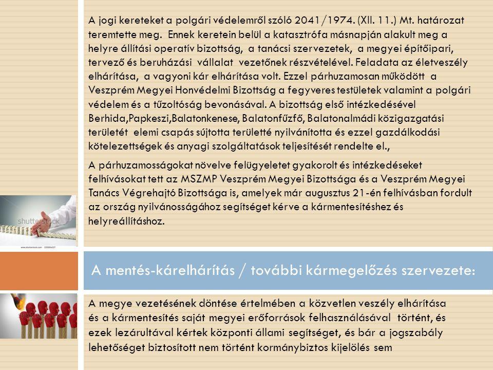 A jogi kereteket a polgári védelemről szóló 2041/1974.