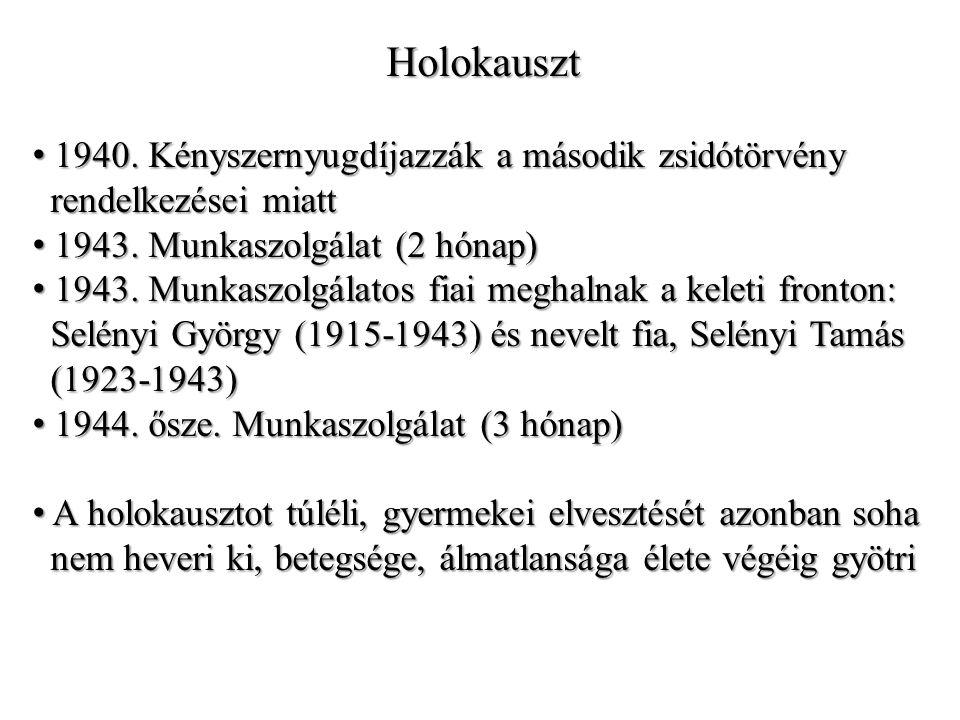 Holokauszt 1940. Kényszernyugdíjazzák a második zsidótörvény 1940.