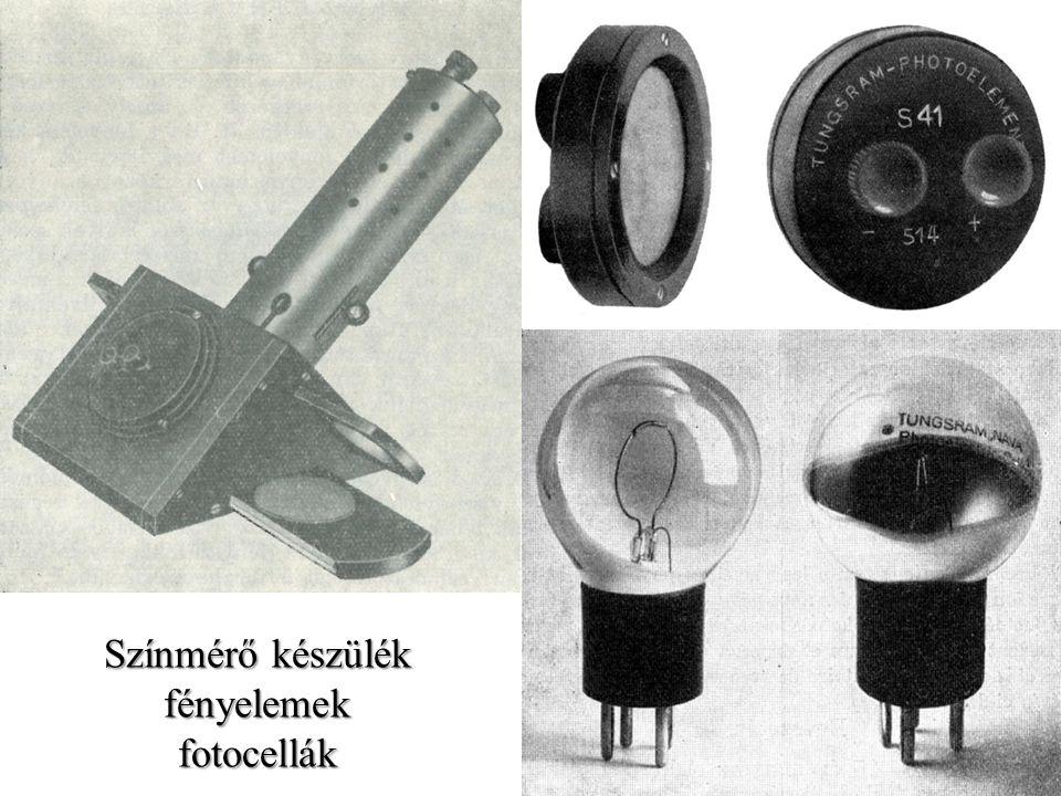Színmérő készülék fényelemek fotocellák