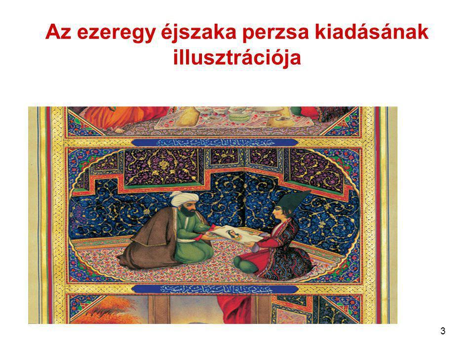 3 Az ezeregy éjszaka perzsa kiadásának illusztrációja
