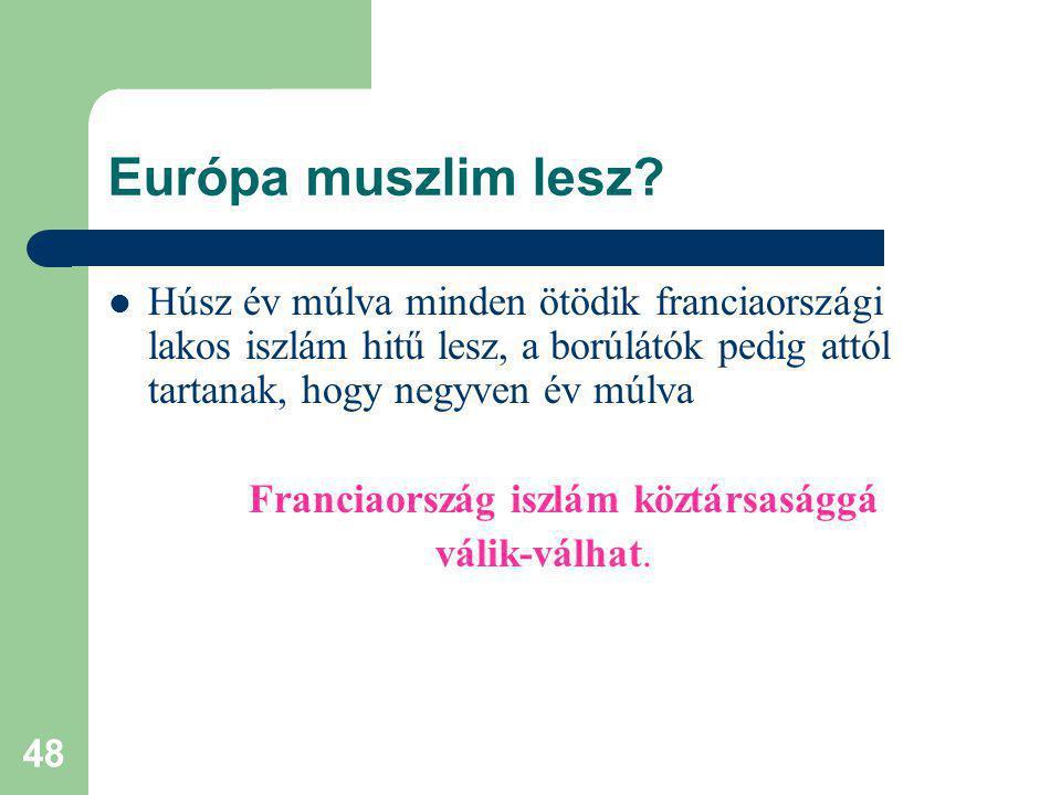 48 Európa muszlim lesz.