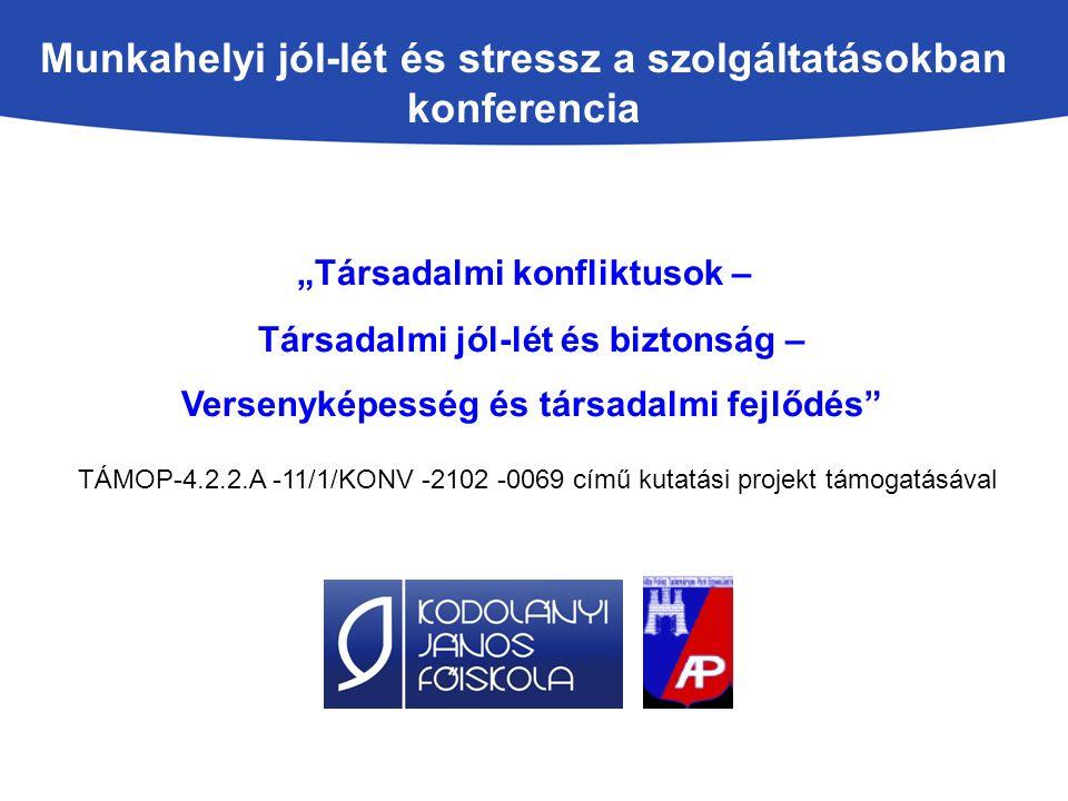 A munkahelyi jól-lét a munkavédelemben, kiemelten a munkahelyi stressz kérdésére és a sérülékeny munkavállalói csoportok foglalkoztatására Dr.
