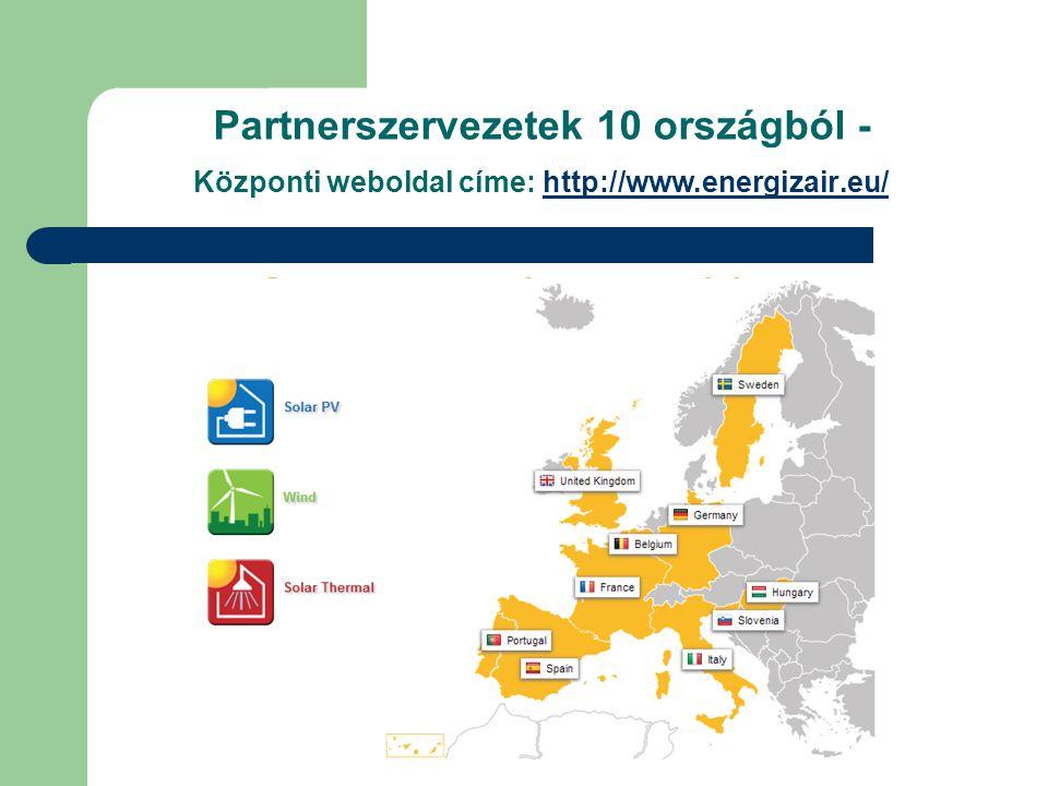 Partnerszervezetek 10 országból - Központi weboldal címe: http://www.energizair.eu/http://www.energizair.eu/