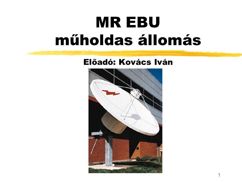 1 MR EBU műholdas állomás Előadó: Kovács Iván