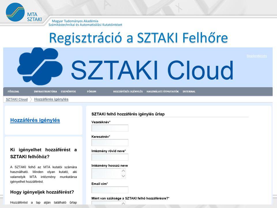 Regisztráció a SZTAKI Felhőre