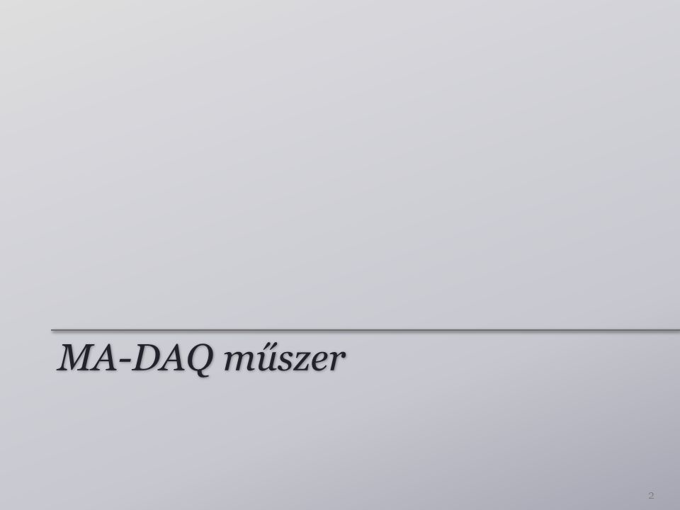 MA-DAQ műszer 2
