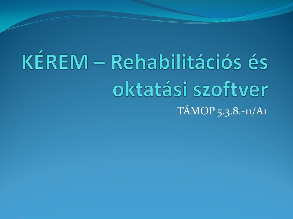 KÉREM szerepe és hasznossága a rehabilitációban Személyes rehabilitációs tervek éves kiértékelése, szükségletek felmérése országos viszonylatban, segítő szolgáltatások tervezésének folyamatai, sikeres rehabilitáció elősegítése, - tranzitálási folyamatának elősegítése, munkapróbák helyszíneinek, munkaköreinek, tapasztalatainak összegzése, fenntartó számára történő statisztikák készítése, mely iránymutató a következő év tervezési folyamataiban.