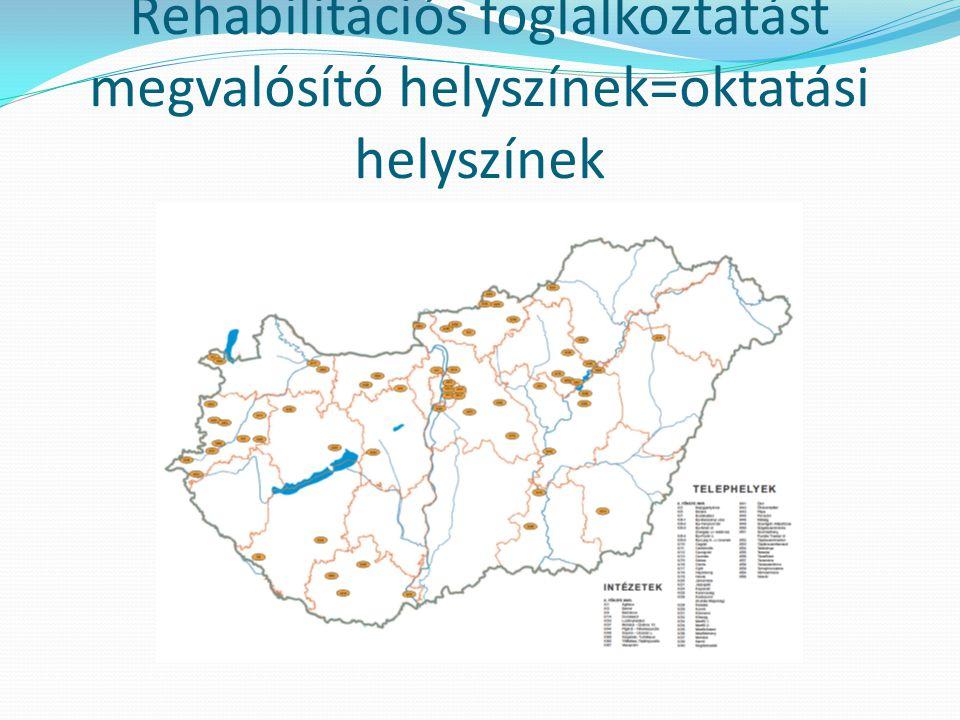 Rehabilitációs foglalkoztatást megvalósító helyszínek=oktatási helyszínek