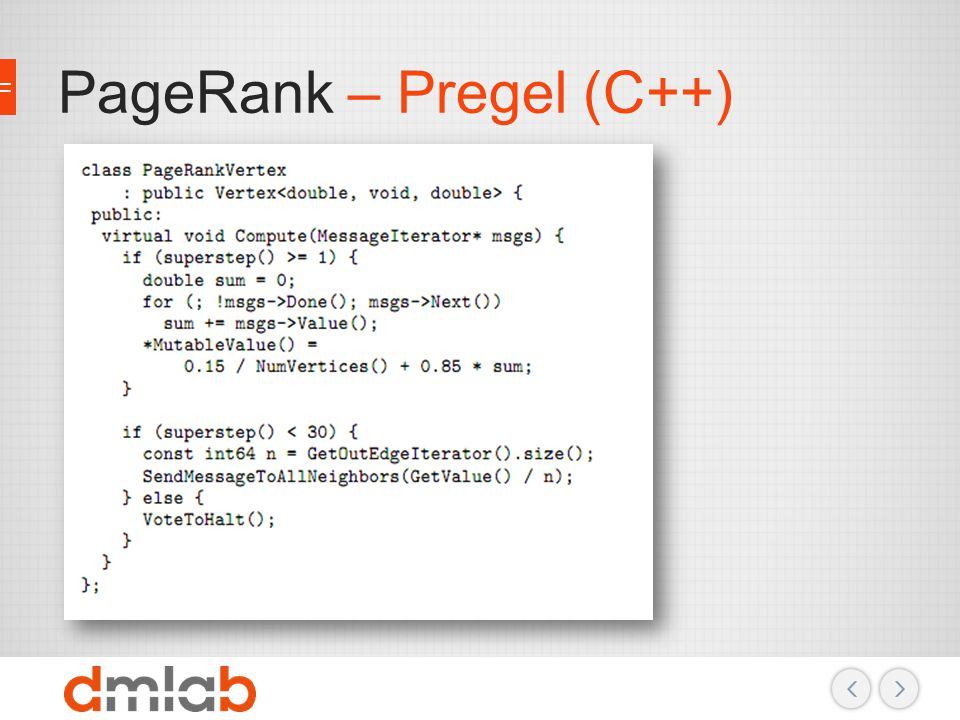 PageRank – Pregel (C++)