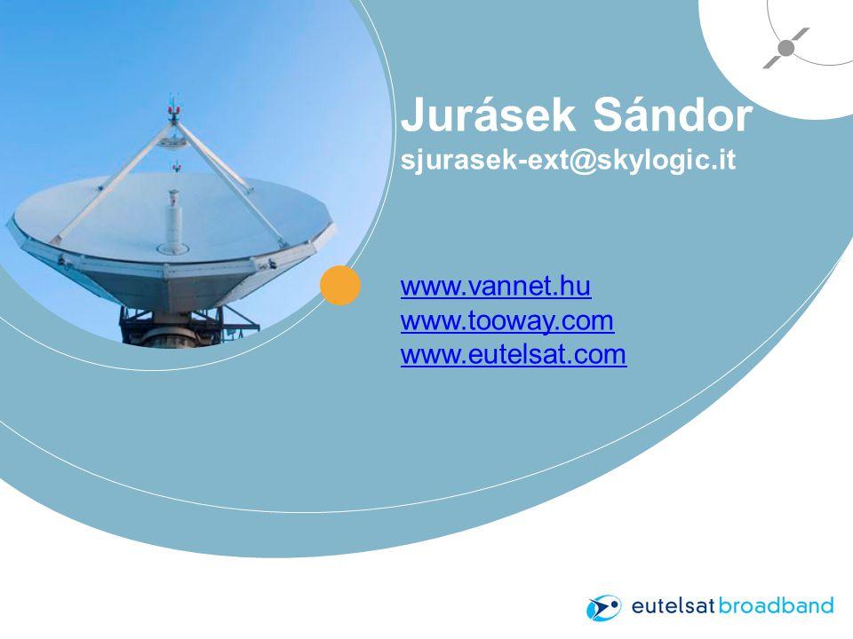 Jurásek Sándor sjurasek-ext@skylogic.it www.vannet.hu www.tooway.com www.eutelsat.com