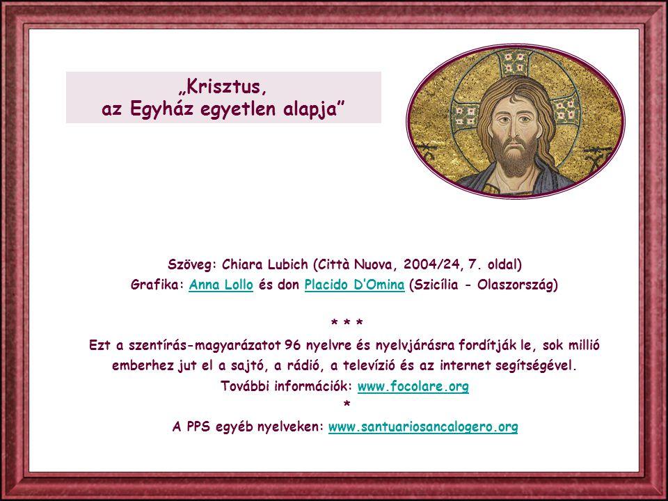 """""""Szeress, és tégy, amit akarsz – mondta szent Ágoston, szinte összefoglalva ezzel az evangéliumi élet törvényét."""