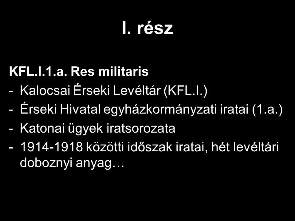 I. rész KFL.I.1.a.