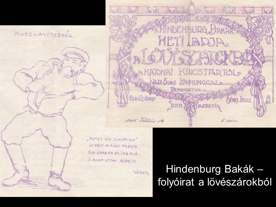 Hindenburg Bakák – folyóirat a lövészárokból