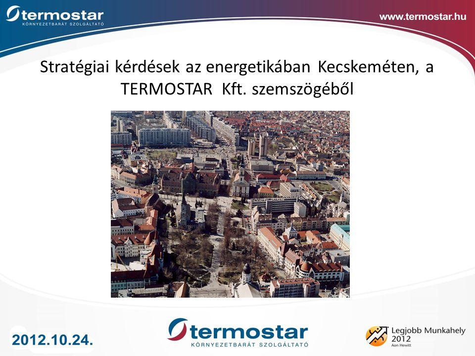 Stratégiai kérdések az energetikában Kecskeméten, a TERMOSTAR Kft. szemszögéből