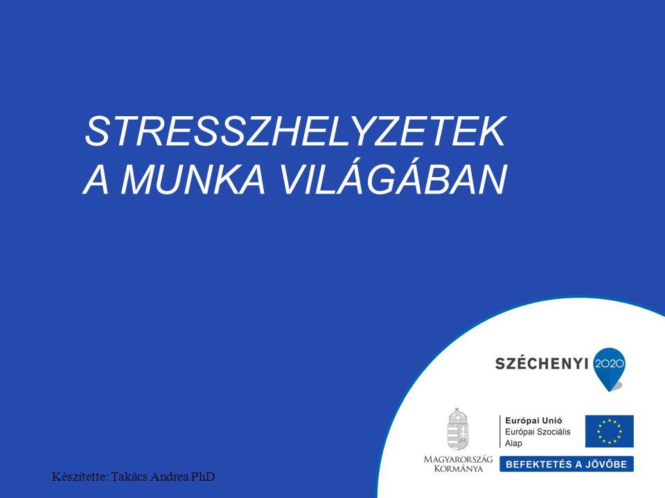 STRESSZHELYZETEK A MUNKA VILÁGÁBAN Készítette: Takács Andrea PhD