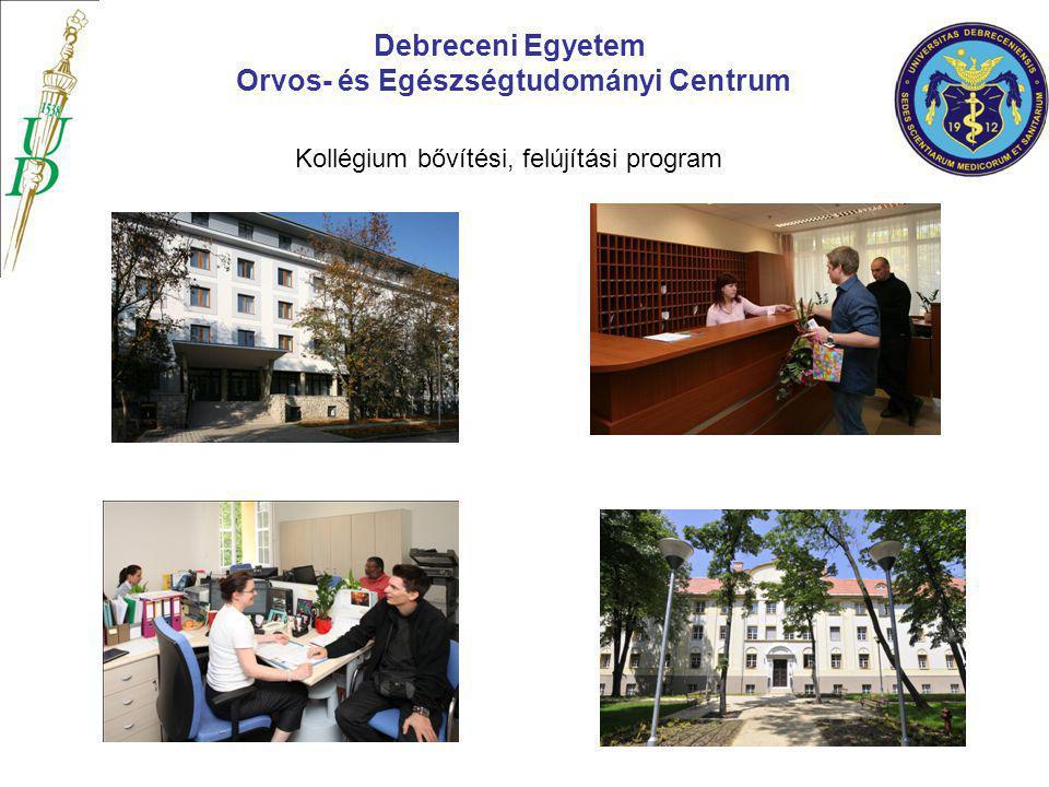 Debreceni Egyetem Orvos- és Egészségtudományi Centrum Kollégium bővítési, felújítási program