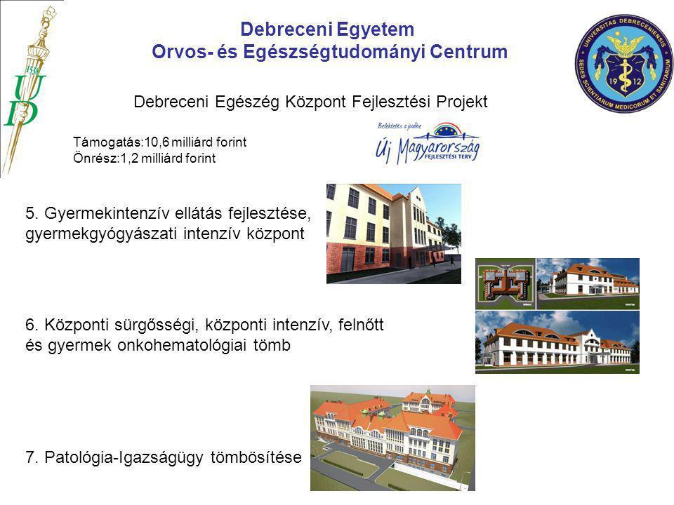 5. Gyermekintenzív ellátás fejlesztése, gyermekgyógyászati intenzív központ Debreceni Egyetem Orvos- és Egészségtudományi Centrum Debreceni Egészég Kö