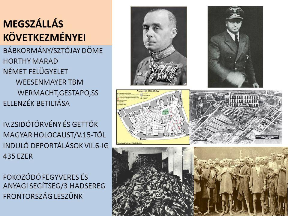 KIUGRÁSI KÍSÉRLET BUKÁSA/1944 X.15 ROMÁN ÁTÁLLÁS MINISZTERELNÖK CSERE/ LAKATOS GÉZA VEZR.