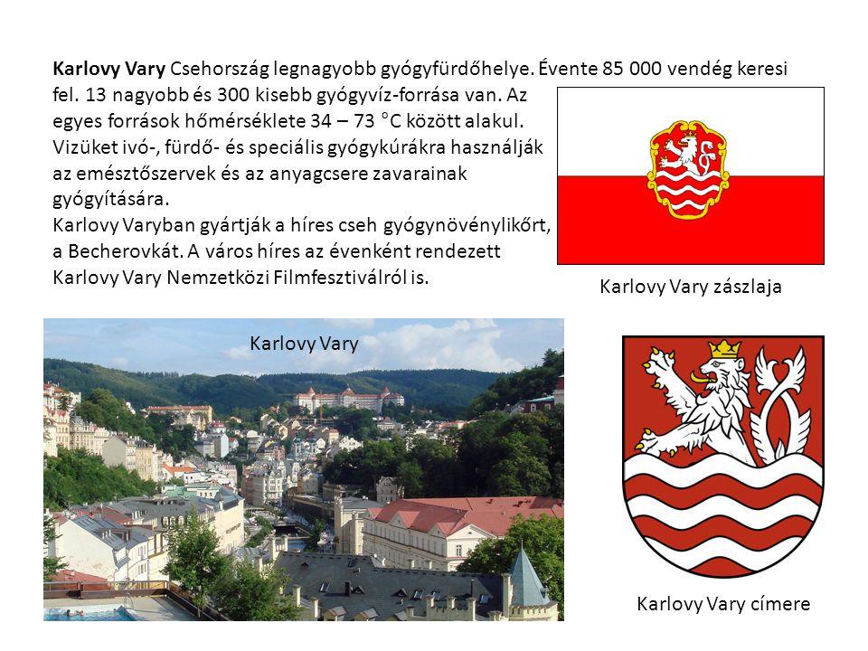 Karlovy Vary Csehország legnagyobb gyógyfürdőhelye.